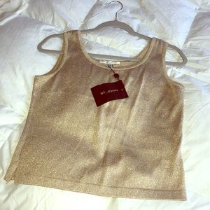 ST. JOHN gold evening tank top